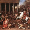 The 70 AD Destruction of the Jewish Temple. Painting by Nicolas Poussin