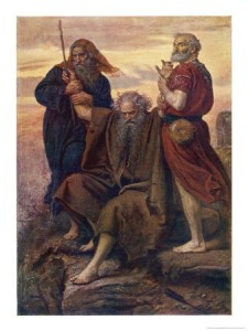 Moses' arms on Mt. Horeb. Painting by John Everett Millais